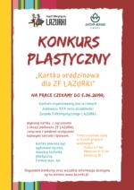 """Konkurs plastyczny """"Kartka urodzinowa dla ZF LAZURKI"""""""